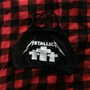 Hit Topic Metallica crop top SZ Medium